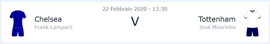 Chelsea-Tottenham, info partita - William Hill News Italia